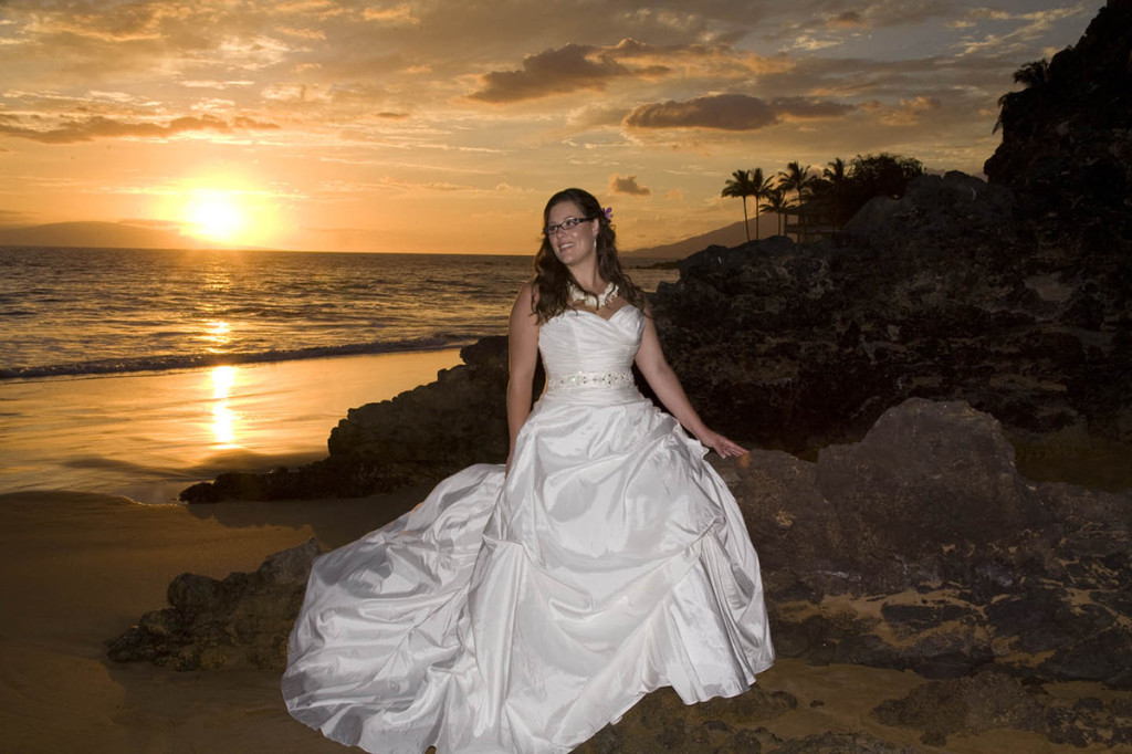 hawaii wedding bride on maui