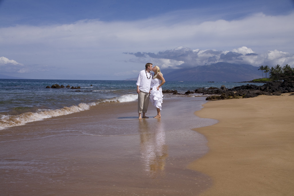 Maui wedding beach at Poolenalena