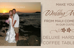 Custom Maui Wedding Photo Albums
