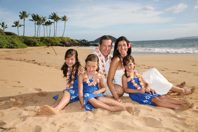 Photos to last a lifetime. After the Maui wedding, family and group photos taken.