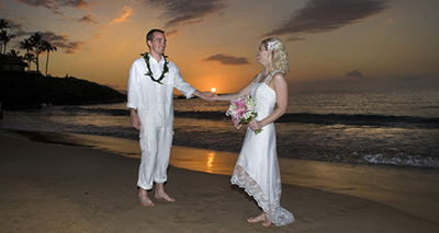 wedding on Wailea Beach Maui