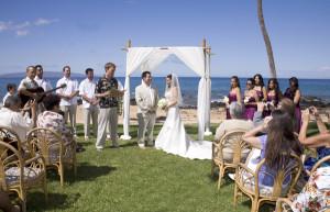 Maui wedding venue at the five palms