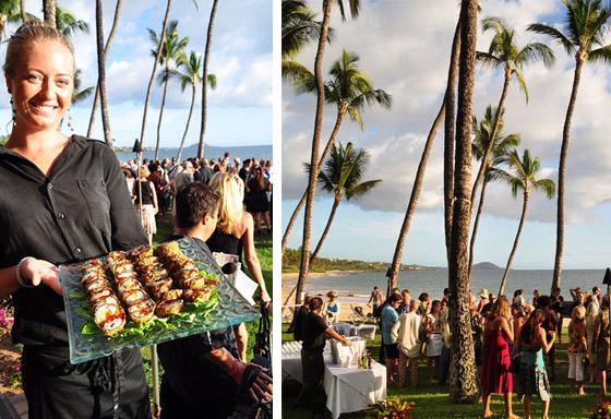 outdoor maui wedding reception location