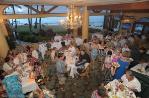 inside wedding reception venue at maui Five Palms