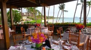 ocean view restaurant on Maui for wedding reception
