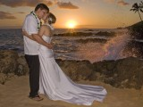 crashing waves at makena cove wedding
