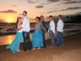 family at their Maui Vow Renewal