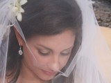 maui bride with veil at her wedding