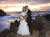 sunset photos at maui wedding