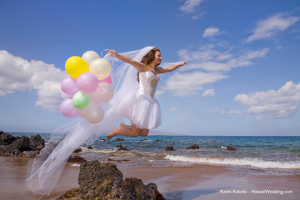 bride at her maui hawaii wedding, by wedding photographer on Maui