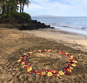 Circle of flower petals $325