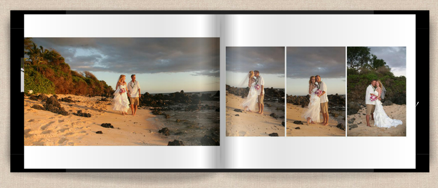 wedding on maui beach photo album