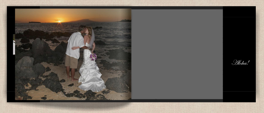 hawaiian island wedding on maui as seen in photo book