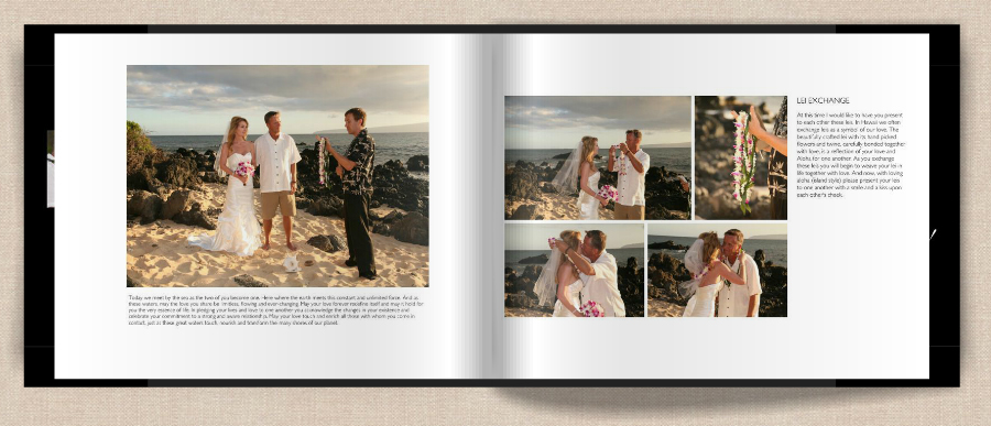 page 3 of maui wedding photo album
