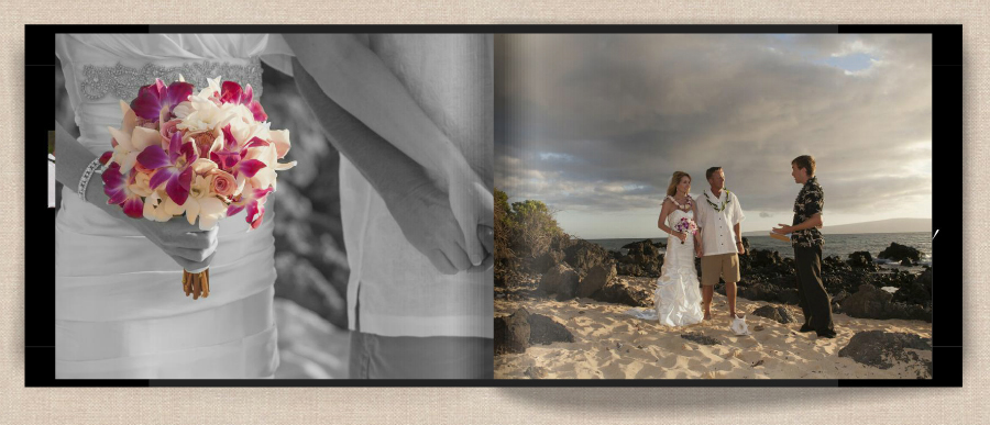 page4 of wedding photo book on Maui