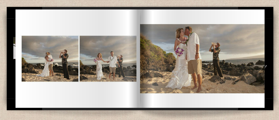 wedding on maui photo book