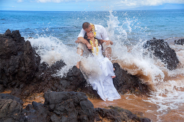 Hawaii wedding and vow renewal maui beach wedding junglespirit Choice Image