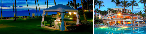 private dinner on the beach on Maui