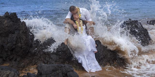 Trash Your Wedding Dress - Hawaii Wedding - Maui Wedding & Vow ...