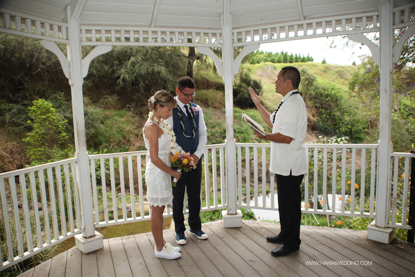 Civil Hawaii wedding
